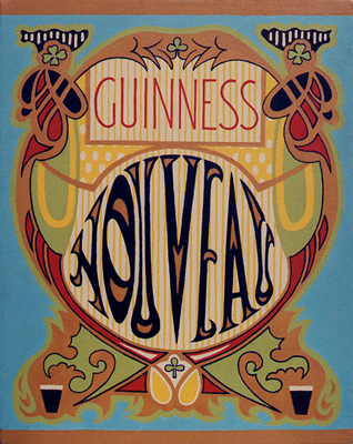 GUINNESS NOUVEAU retro experimental advertisement paintins acrylic on canvas for the Irish Stout Beer by fLANSBURG dESIGN