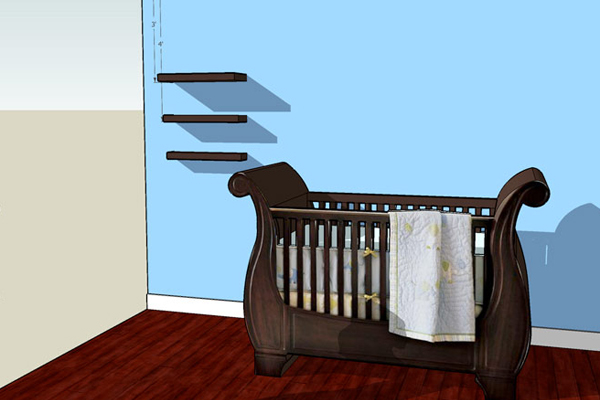 Max Baby Room rendering three 3 for custom build fLANSBURG dESIGN Scottsdale Arizona