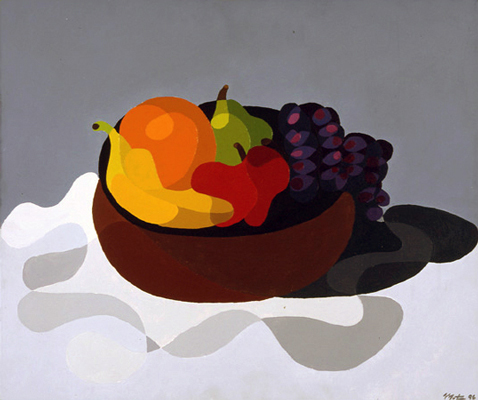 Grapes of Wrath Still Life Abstraction Acrylic on Canvas Circa 1996 Matthew fLANSBURG dESIGN